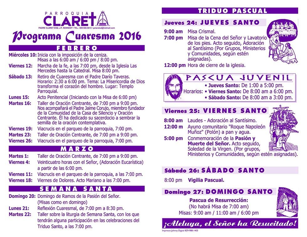 Programa CUARESMA 2016